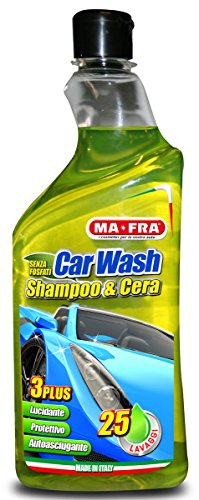 Ma-Fra, Car Wash, Shampoo e Cera Auto, Autoasciugante, 750 ml