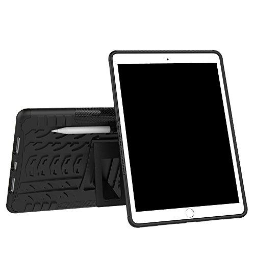 KISCO für Apple iPad Pro 11 Hülle,Stoßfest Hybrid PC und TPU Cover mit Kickstand Tablet Cover Schutzhülle für Apple iPad Pro 11-Schwarz