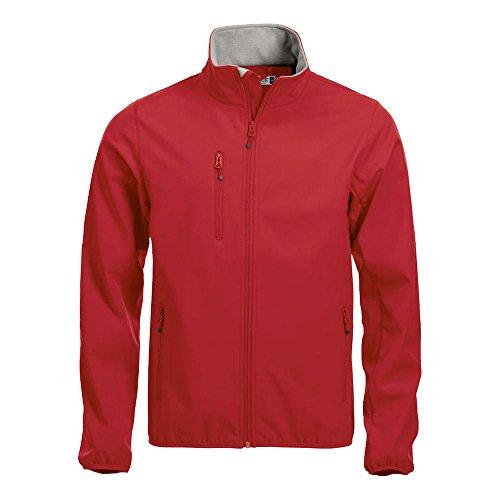 Clique uomo basic softshell 280 gr. Rosso