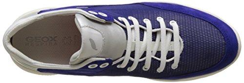Geox D Sfinge A, Baskets Basses Femme Bleu (DK VIOLETC8019)