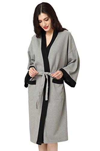 Aibrou Bademantel Herrn Damen Morgenmantel Baumwolle Schlafanzug ...