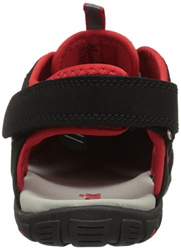 Kamik Unisex-Kinder Oyster Outdoor Sandalen Schwarz (Black/Red-Noir/Rouge)