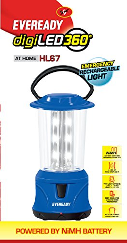 Eveready HL-67 Portable Rechargeable Lantern (Blue)