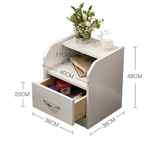 Comodino armadio di stoccaggio multifunzione cassetto senza cingoli legna armadietti (dimensioni : 40 * 36 * 48cm)