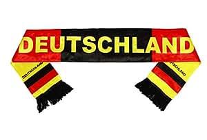 HAAC DEUTSCHLANDSCHAL SCHWARZ/ROT/GOLD DEUTSCHLAND FUßBALL EM 2016 GR. 130 cm x 14 cm