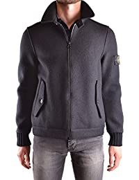Stone Island Men's MCBI284012O Black Wool Jacket