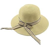 LBY Sombrero De Paja Femenina Verano Pequeña Versión Coreana Fresca De La Playa Plegable Salvaje Sombrero Dulce Linda Cuenca Cap Sombrero De Paja Sombrero De Paja Sombreros de Sol