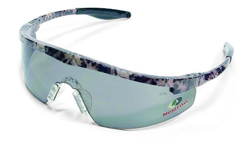 MCR Safety MOT212 Mossy Oak Single Lens Glasses with Triwear Frame and Gray Lens, 1-Pair by MCR Safety