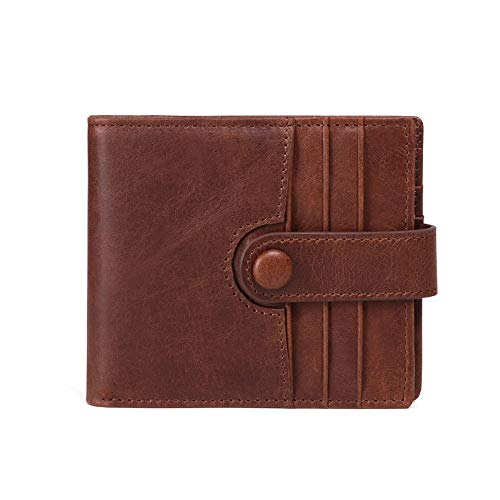 6d3a94ea3 Billetera de hombre Mens Slim Pocket Wallet RFID Blocking ID Tarjeta de  ventana Brown Brown Wallet