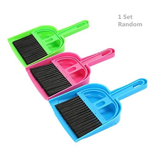 Bobopai Set of Mini Dustpan & Brush Desk Table Top Keyboard Netbook Handy Cleaner Whisk by, Random Color (1set)
