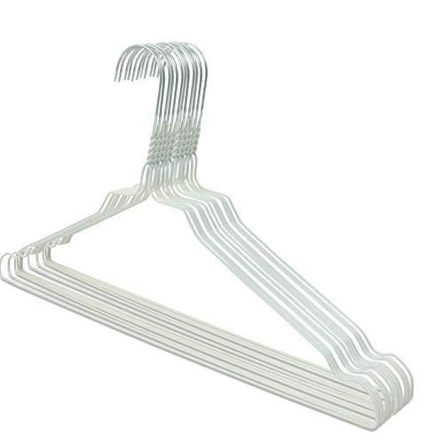 famy.Shop 50alambre plancha en color blanco, recubrimiento en polvo, ganchos galvanizados, 2,3mm, 40cm