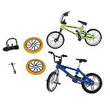 FLAMEER 2 Pièces Jouet de Doigt Mini Vélo BMX Cadeau d'anniversaire pour Fille...