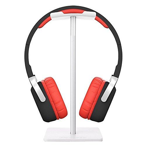 Kopfhörer Ständer, Forrader Universal Aluminium Aufbewahrungsort für Headset, Display Ständer Kleiderbügel für alle Kopfhörer Größe (weiß)