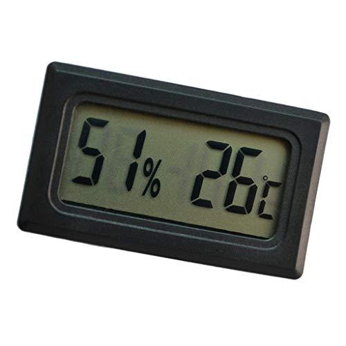 LOVIVER Digital LCD Temperatur Luftfeuchtigkeit Meter Mini Reptil Hygrometer Multi-format Lcd