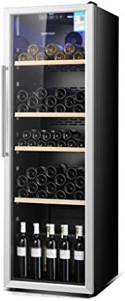 Beverage Display Cabinet Large Wine and Beverage Refrigerator With Glass Door and LED Blue Light, 40DB, 310 L,