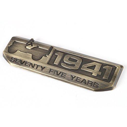 Toppower 1941 Anniversaire Edition Emblème für Jeep Wrangler Willy's 75th (Bronze)