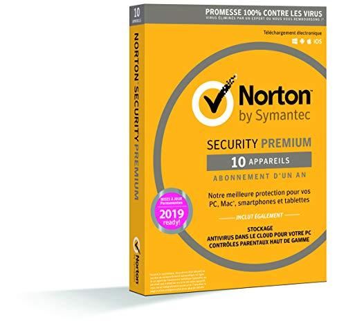 Norton Security Premium | 10 Appareils | 1 an | PC/Mac/iOS/Android | Téléchargement