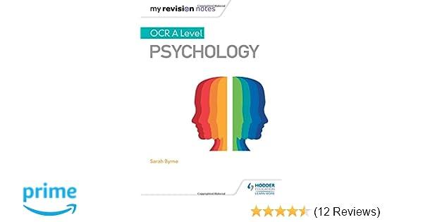 My Revision Notes: OCR A Level Psychology: Amazon co uk