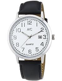 MC Timetrend Herren-Armbanduhr XL Analog Quarz Leder 27462