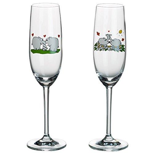 Otto by Ritzenhoff AG OW-0017 Sektglas, Champagnerglas, Ottifanten, Otto Waalkes, 160 ml, 2-er Set