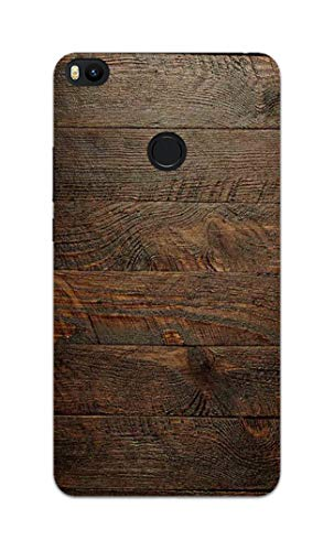 Madanyu Wooden Wall Abstract Designer Printed Hard Back Shell Case For Mi Max 2/ Redmi Max 2