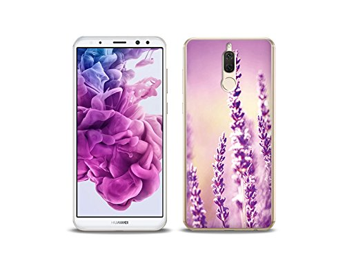 etuo Huawei Mate 10 Lite Handyhülle Schutzhülle Etui Hülle Case Cover Tasche für Handy Foto Case - Lavendel