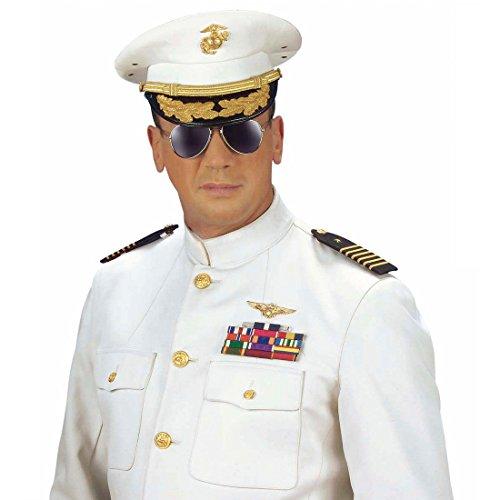 NET TOYS Flieger Abzeichen Fliegerabzeichen gold Piloten Abzeichen Pilotenabzeichen Armee Militär Medaille Kostüm Accessoire -
