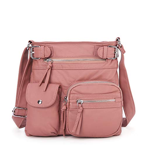Damen Weiches Taschen Oder Leder Henkeltaschen Für Umhängetaschen Handtasche Geldbörse Angelkiss Mädchen Crossover Frauen OTiukXZPwl