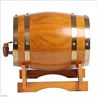 Barril de vino Multifuncional 3L-50L Wine Oak Barrel, White Wine Red Wine Barrel Decoración del hogar Wine Barrel Beer Barrel (Color : Orange, Tamaño : 30L)