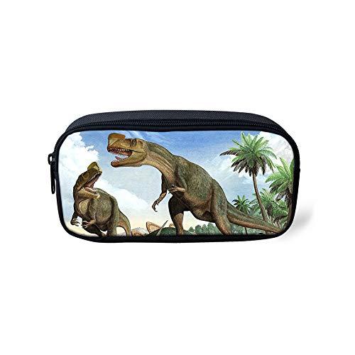 POLERO Dinosaurier Dino Personalisierte Bleistift-Kasten, kosmetischer Kasten und Reisetasche für Office und Back to School (Oviraptoridae) -