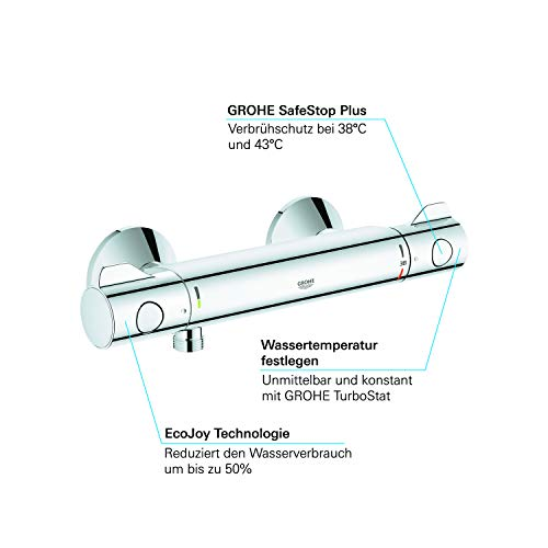 Grohe Grohtherm 800 Brausethermostat, (34558000) - 6