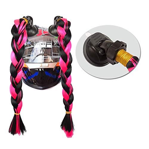 3T-SISTER Helm geflochtener Pferdeschwanz Verkleiden und Kostüme Perücken und Haarteile für Erwachsene 2 Stück 14