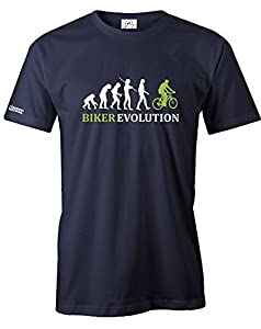 BIKER EVOLUTION - HERREN - T-SHIRT in Navy by Jayess Gr. XXL