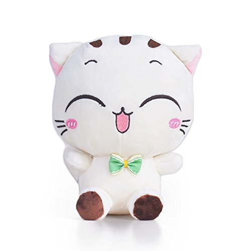 Lazada Stuffed Cat Plush Kitty Cartoon Animal Toys Kids Gifts White 8''