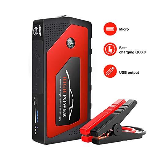 L&Z 600A 18000mAh Portable Auto Starthilfe (Bis zu 5.0L Gas, 3.0L Dieselmotor) 12V Notfall Batterie...