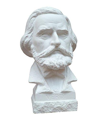 Gipsmanufaktur Büste Komponist Verdi 19cm weißer Alabastergips