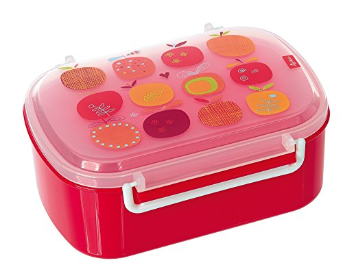 sigikid, Mädchen, Brotdose mit buntem Apfel-Druck, Brotzeitbox Pony sue, Pink, 24738 (äpfel Zu äpfel Kinder)
