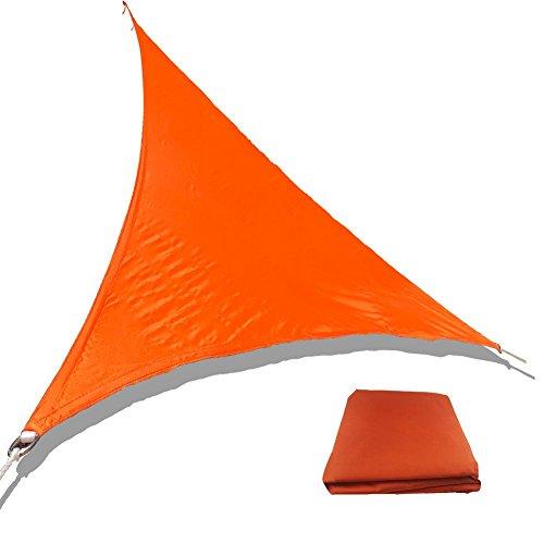 Toile Solaire Voile D'ombrage Triangulaire 3 X 3 X 3 M En Tissu Déperlant Auvent De Protection Solaire Triangle Pour les patios, les stores solaires de jardin