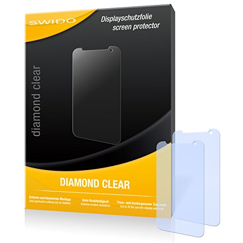 SWIDO 2 x Bildschirmschutzfolie HTC Desire 310 Schutzfolie Folie DiamondClear unsichtbar