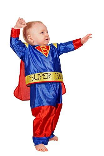 Jannes - Kinder-Kostüm Super Baby, blau rot gelb, Kleinkinder (Baby Kostüm Super)