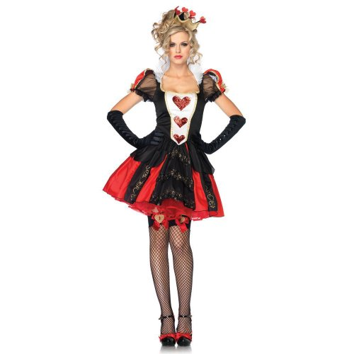 Spielkarten Kostüm Königin - Leg Avenue Dazzling Dark Queen Kostüm S, 1 Stück