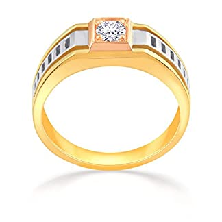Malabar Gold and Diamonds 18KT Three Colour Gold Ring for Men
