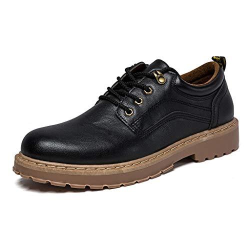 Oxford Shoes Herren Schnürschuhe British Style Low Help Tooling Casual Schuhe Herren Schuhe, Beige - Schwarz - Größe: 41 EU