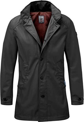 Grin&Bear Herren Slim fit regenabweisend beschichteter Kurzmantel schwarz XL AK76