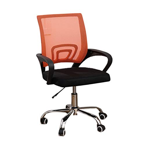 Sedia da classe, insegnante per lo studente learn chair net sedia girevole sedia da ufficio girevole per computer (colore : orange)
