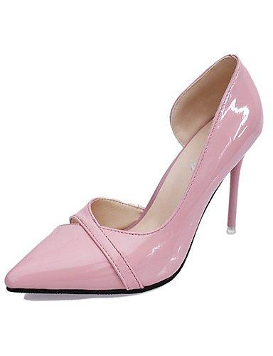 WSS 2016 Chaussures Femme-Soirée & Evénement-Noir / Rose / Gris-Talon Aiguille-Bout Pointu-Talons-Polyuréthane black-us5.5 / eu36 / uk3.5 / cn35