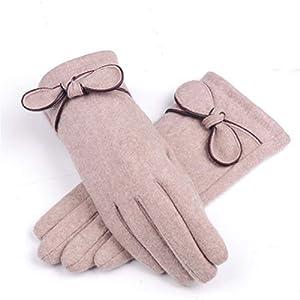 GCC Warme Handschuhe Herbst und Winter Zeigt Finger Damen Touchscreen