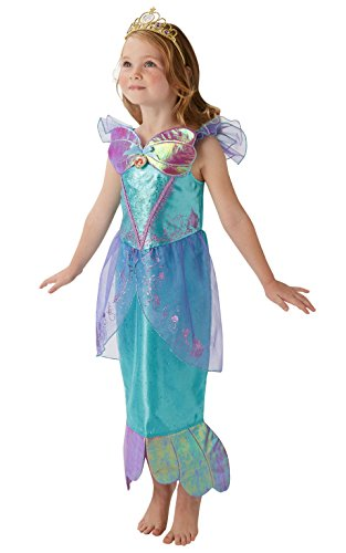 Disney Princess Ariel Little Mermaid Kinder Deluxe Kostüm (Disney Ariel Meerjungfrau Kostüm)