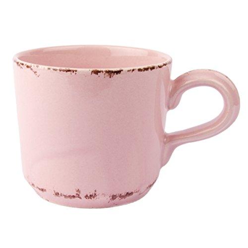 Tasse Kaffeebecher Geschirr Blau Rosa Weiß Landhaus 200ml - Serie Tosca (Rosa)