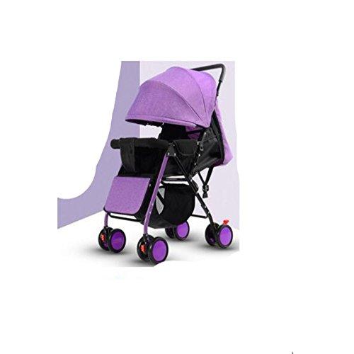 Cww Kinderwagen Licht Gesetzt Liegestuhl Licht Tragbare Klappkinderwagen Vier Rad Bambus Kinderwagen,Purple